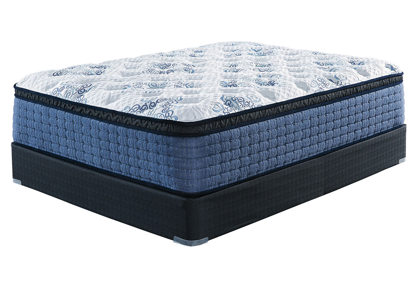 Mt. Dana White Eurotop King Mattress w/Foundation,Sierra Sleep by Ashley