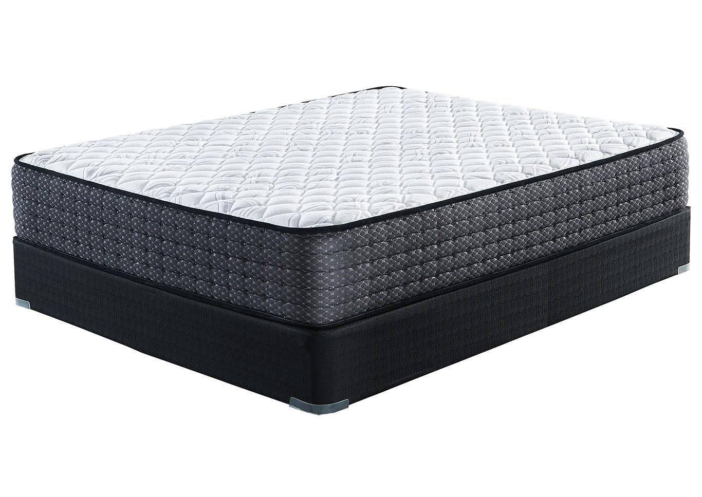 Limited Edition White Firm Queen Mattress w/Foundation,Sierra Sleep by Ashley