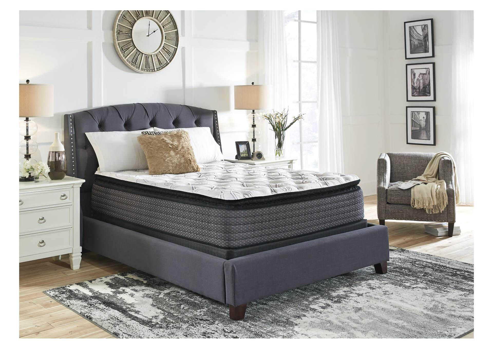 Limited Edition White Pillowtop Queen Mattress,Sierra Sleep by Ashley