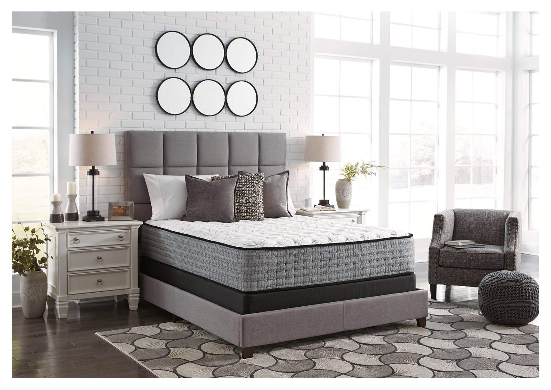 Mt. Rogers Ltd. White Firm Queen Mattress,Sierra Sleep by Ashley