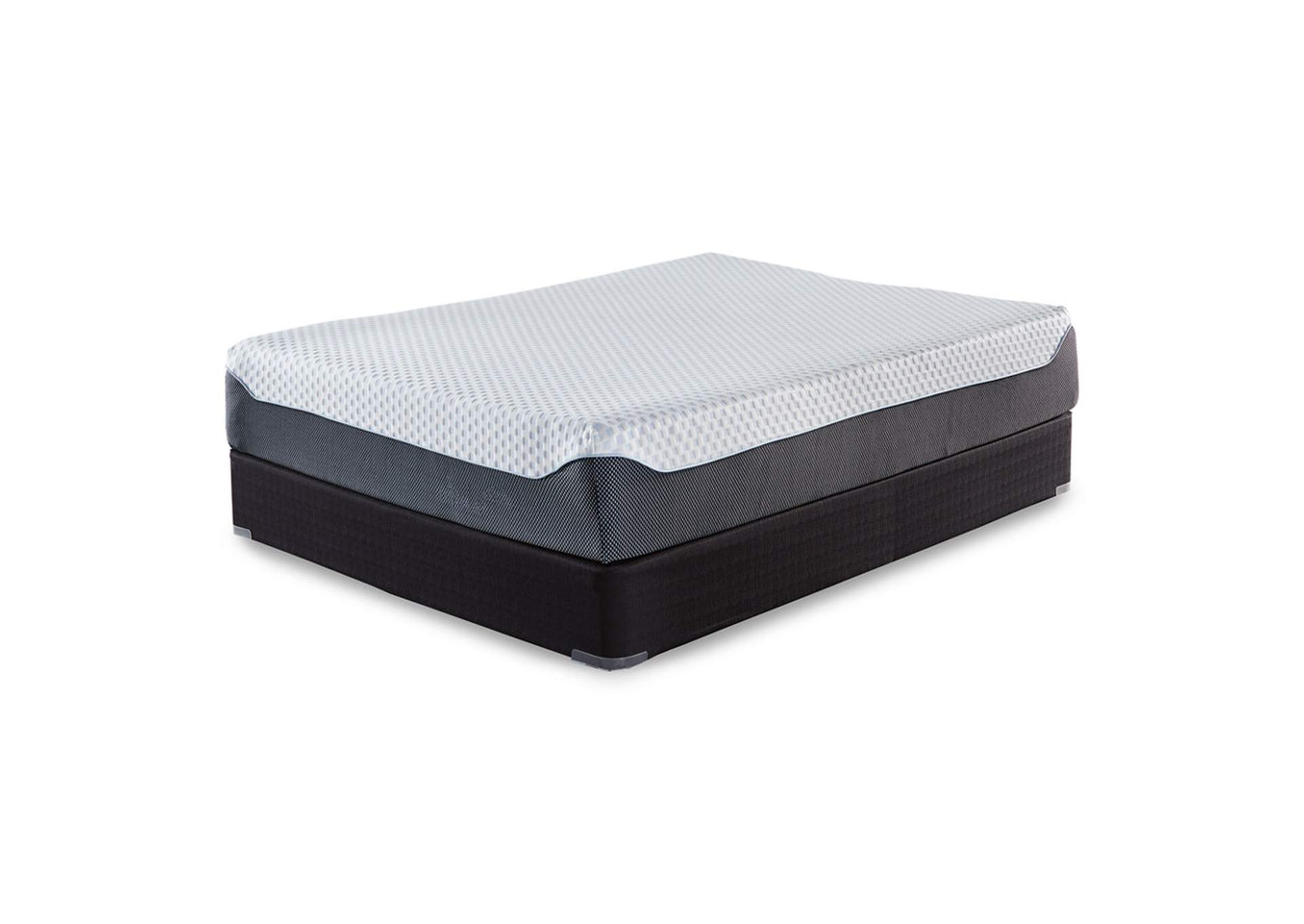 12 Inch Chime Elite Memory Foam King Mattress w/Foundation,Sierra Sleep by Ashley
