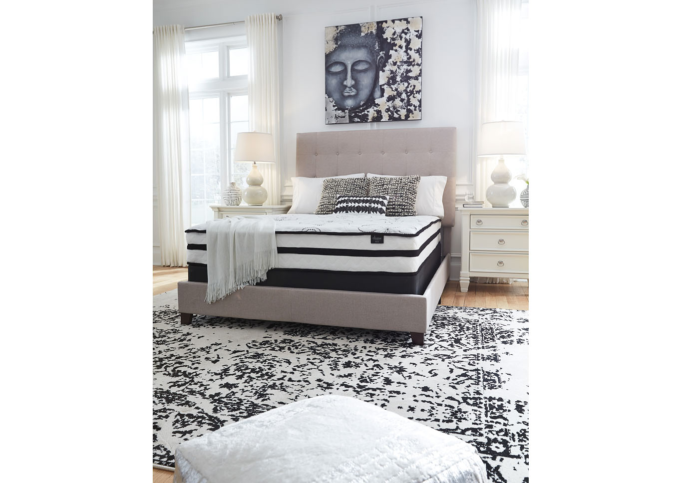 "Chime 10"" Hybrid Queen Mattress,Sierra Sleep by Ashley"