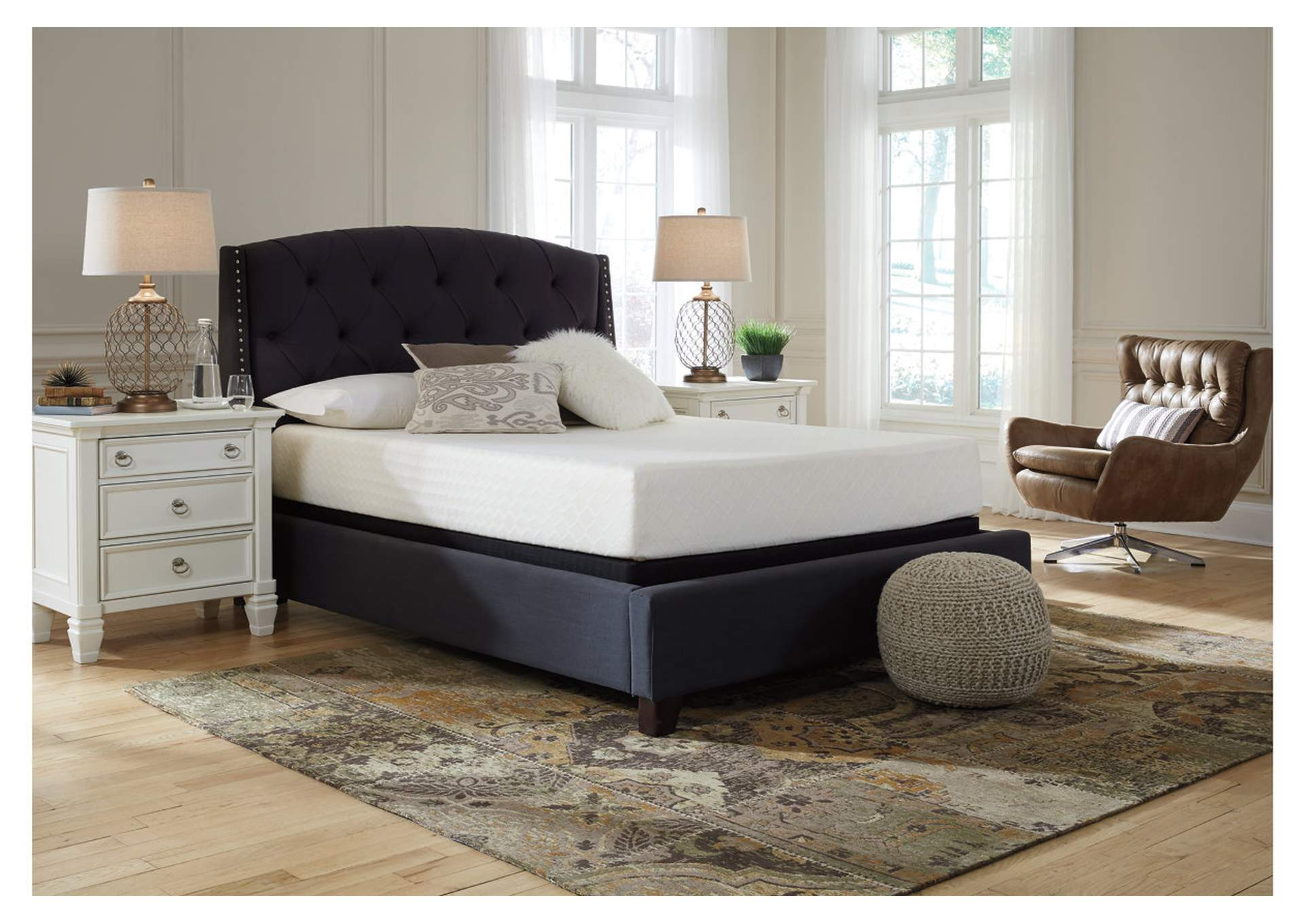 "Chime 10"" Memory Foam Full Mattress w/Grey Foundation,Sierra Sleep by Ashley"