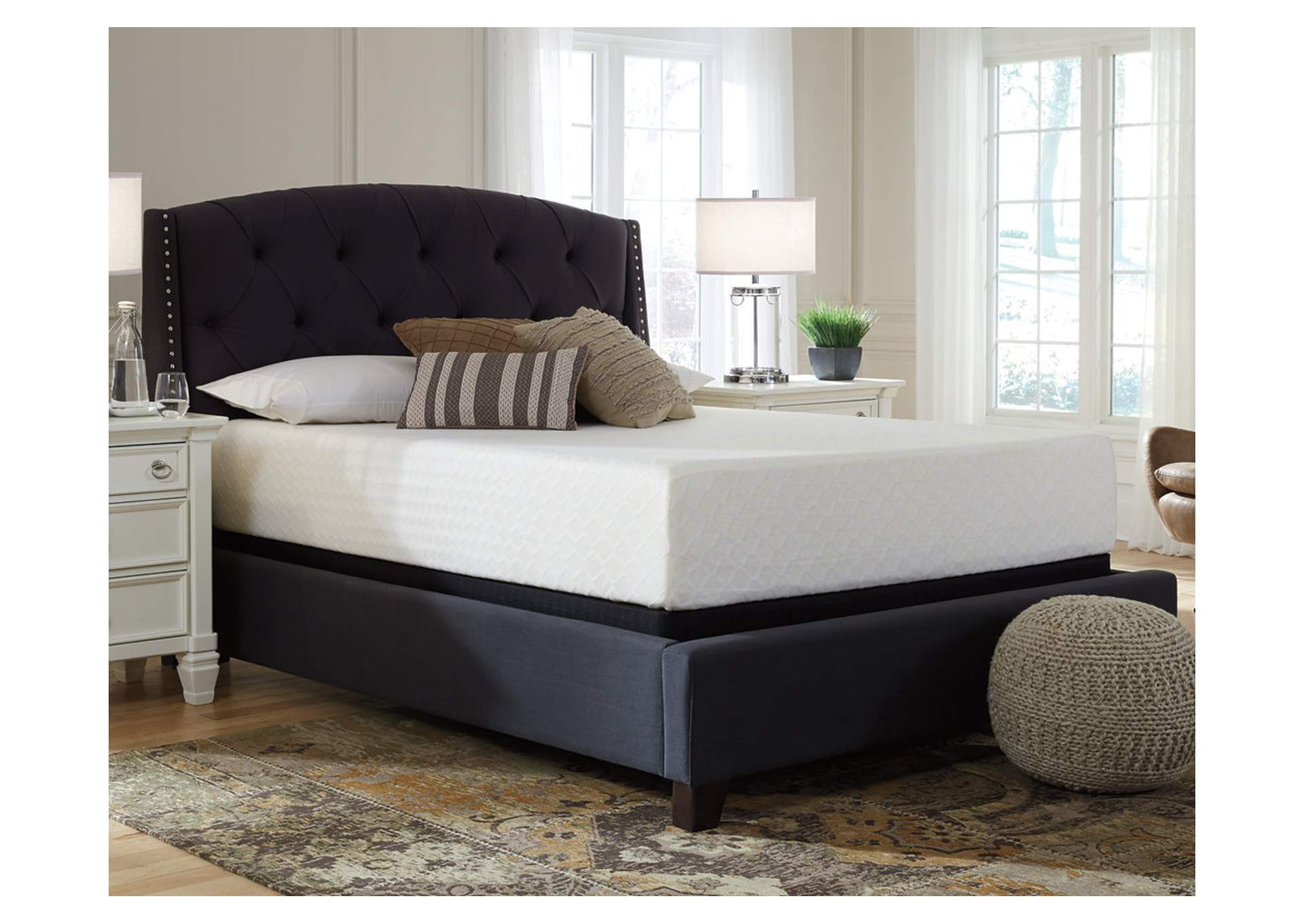 Chime 12 Inch Memory Foam Queen Mattress in a Box,Sierra Sleep by Ashley