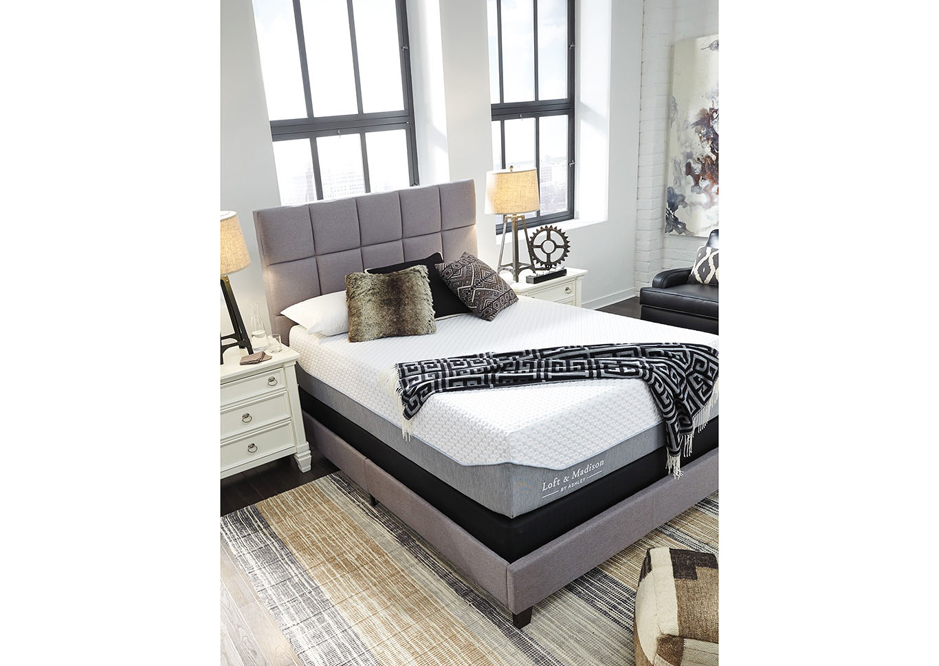 Loft and Madison 15 Plush White Queen Mattress,Sierra Sleep by Ashley