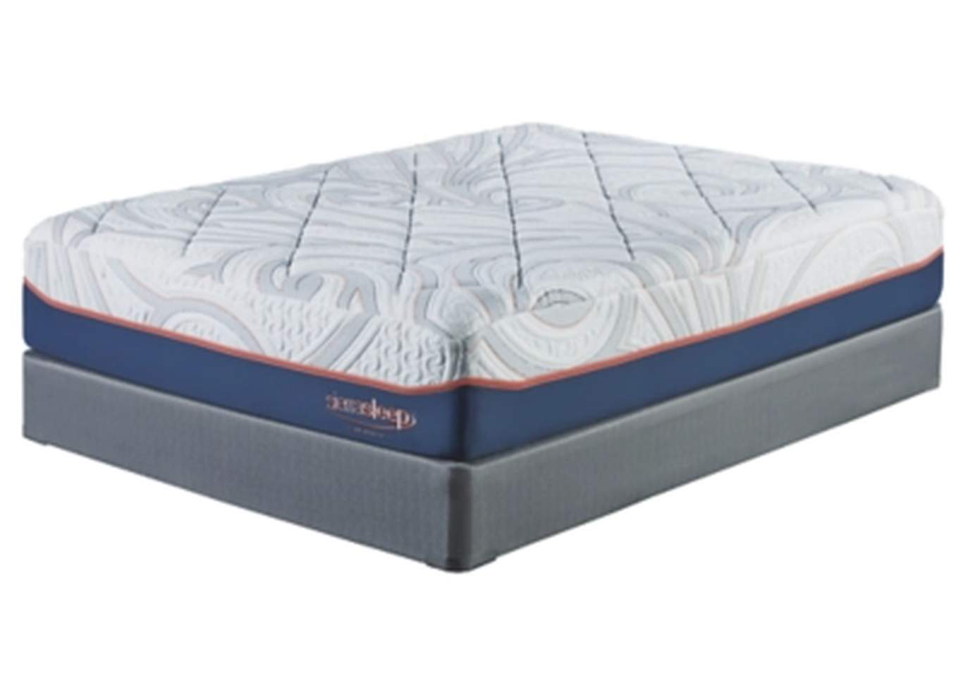 14 Inch MyGel White Queen Mattress w/Foundation,Sierra Sleep by Ashley