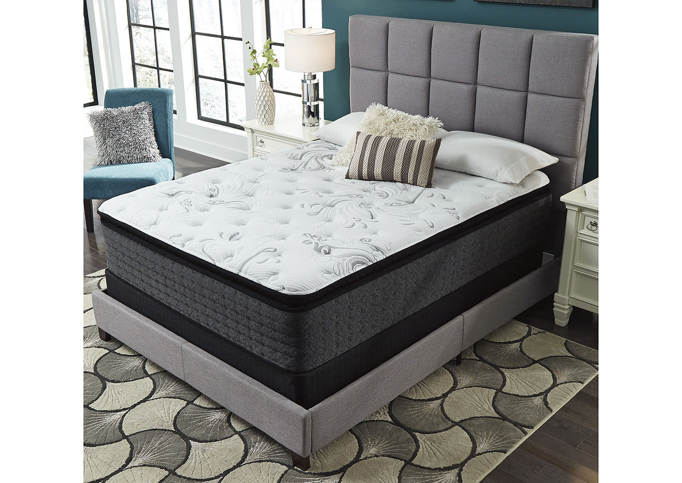Bar Harbor Firm PT King Mattress w/Foundation,Ashley