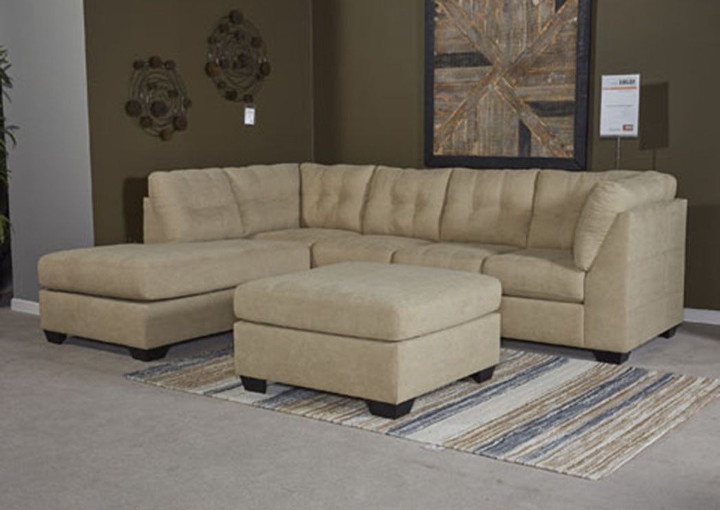 Maier Cocoa Left Facing Corner Chaise Sectional,Benchcraft