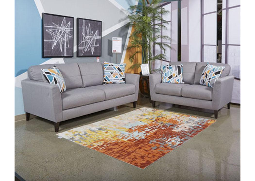 Pelsor Gray Sofa and Loveseat,Benchcraft