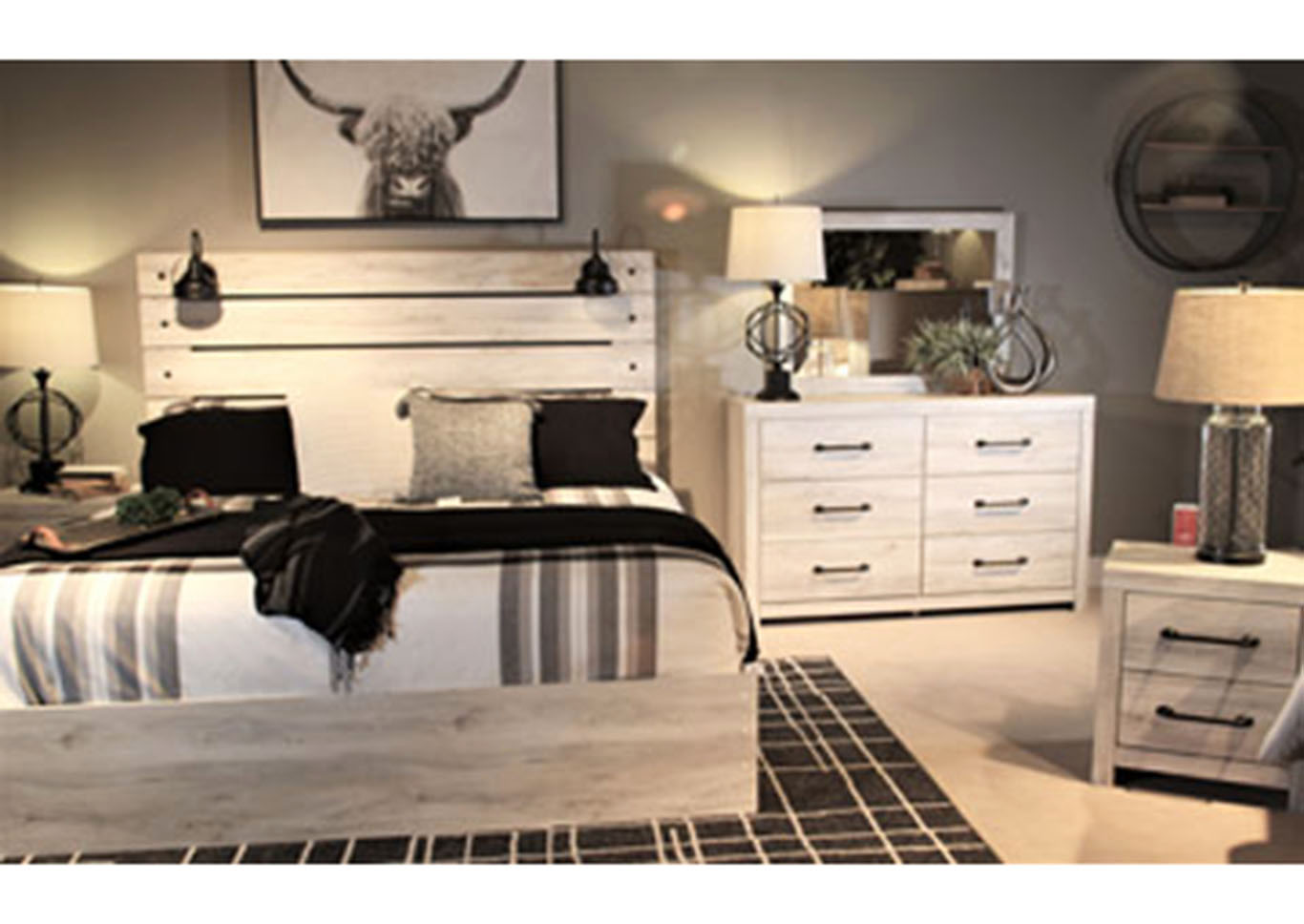 Cambeck Full One Side Storage Bed w/Dresser and Mirror,Signature Design By Ashley