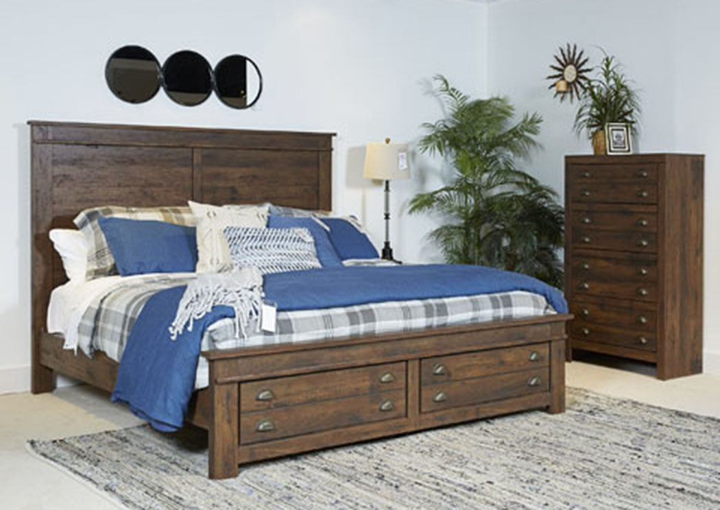 Hammerstead Brown King Platform Storage Bed,ABF Signature Design By Ashley