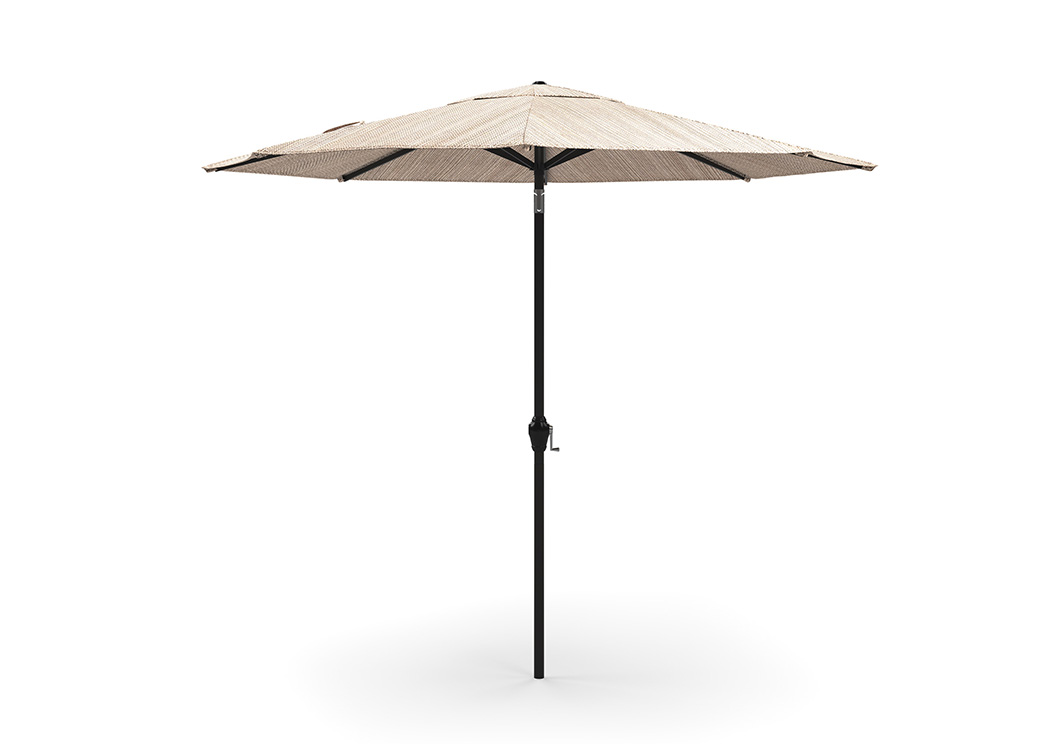 Multi Medium Auto Tilt Umbrella,Outdoor By Ashley