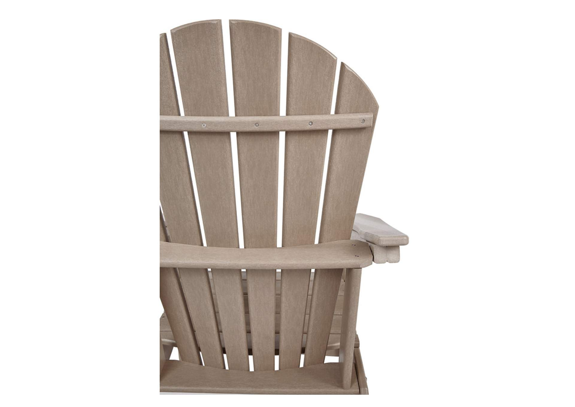 Sundown Treasure Grayish Brown Adirondack Chair,Outdoor By Ashley