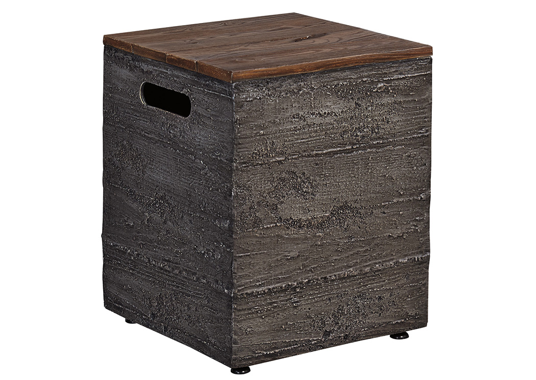 Hatchlands Brown/Gray Tank Storage Box,Outdoor By Ashley