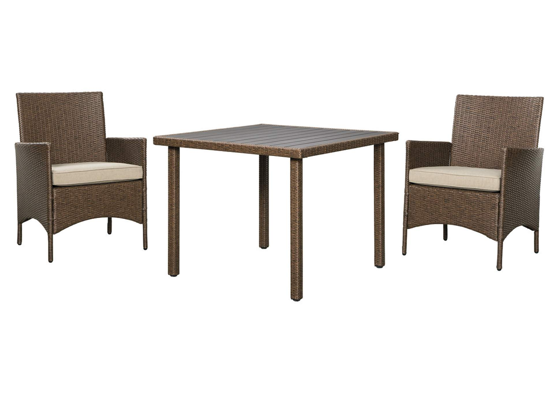 Reedenhurst Brown 3-Piece Dining Table Set,Outdoor By Ashley