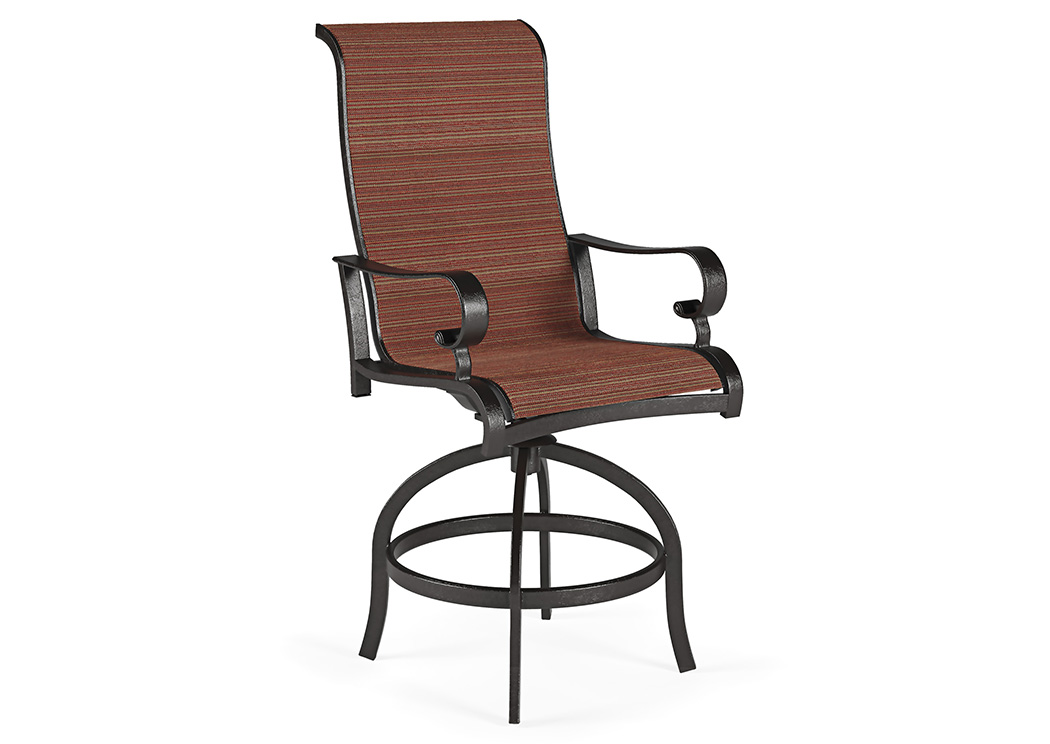 Apple Town Burnt Orange Sling Barstool (2/CN),Outdoor By Ashley