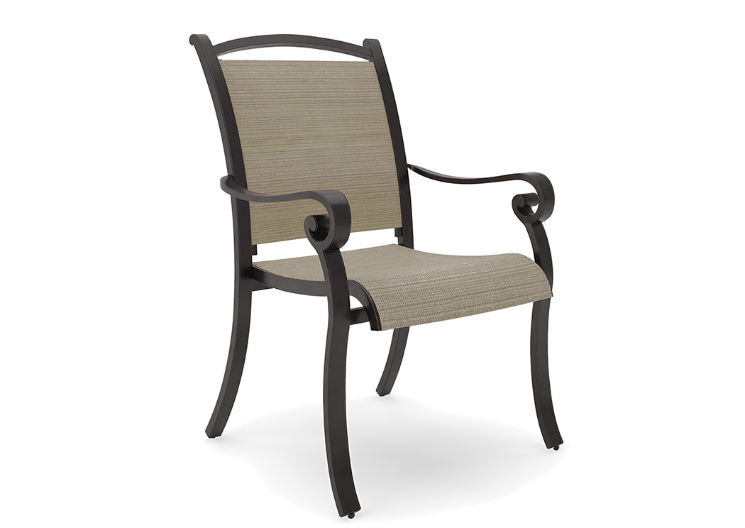 Bass Lake Beige/Brown Sling Chair (4/CN),Outdoor By Ashley