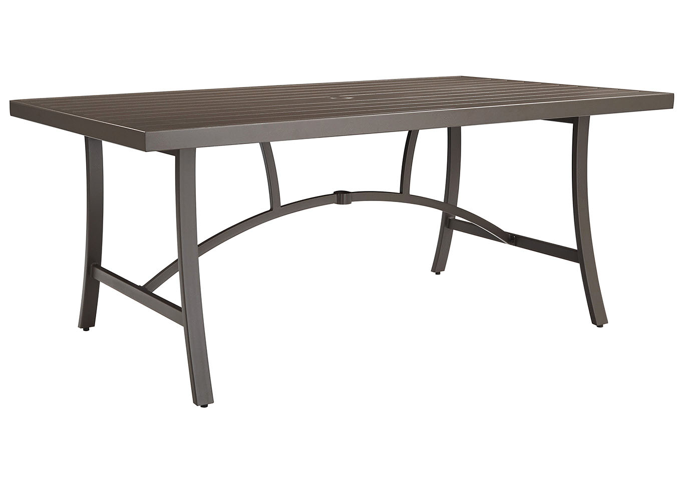 Predmore Beige/Brown Rectangular Dining Table,Outdoor By Ashley