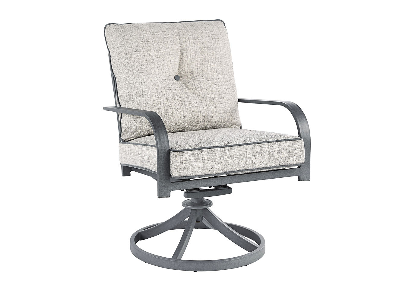 Donnalee Bay Dark Gray Swivel Lounge Chair (Set of 2),Outdoor By Ashley