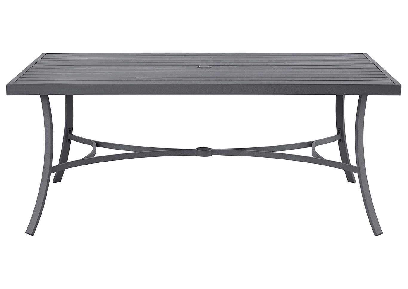 Donnalee Bay Dark Gray Dining Table w/Umbrella Option,Outdoor By Ashley