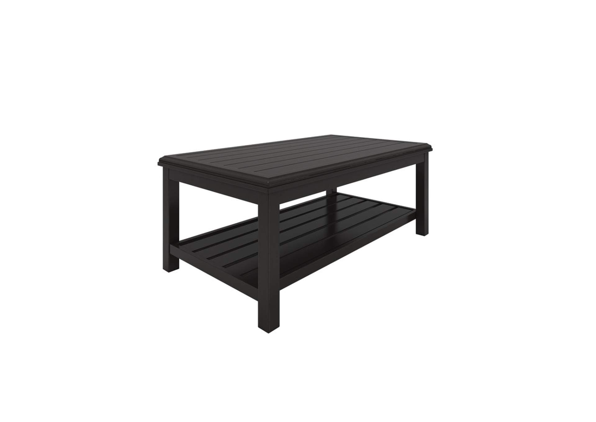 Castle Island Dark Brown Rectangular Cocktail Table,Outdoor By Ashley