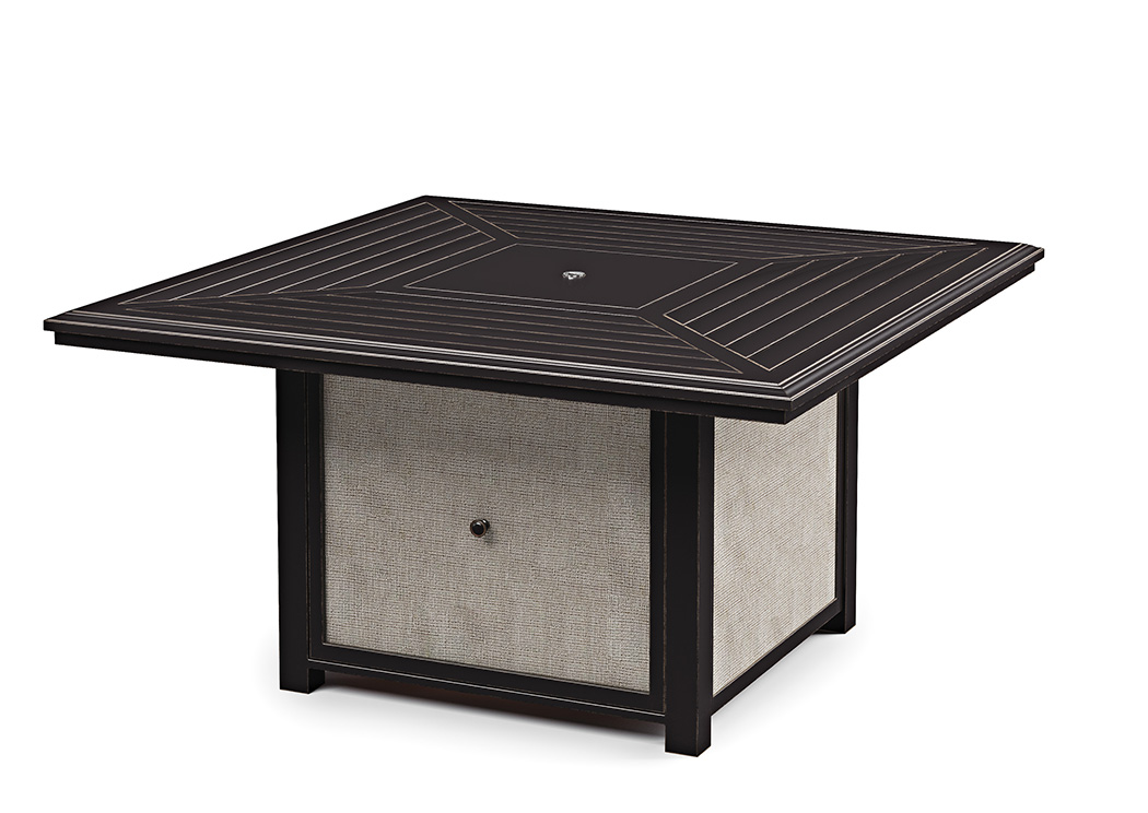 Town Court Brown Square Fire Pit Table,Outdoor By Ashley