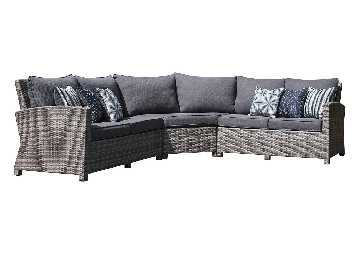 Salem Beach Gray 3 Piece Sectional,Outdoor By Ashley