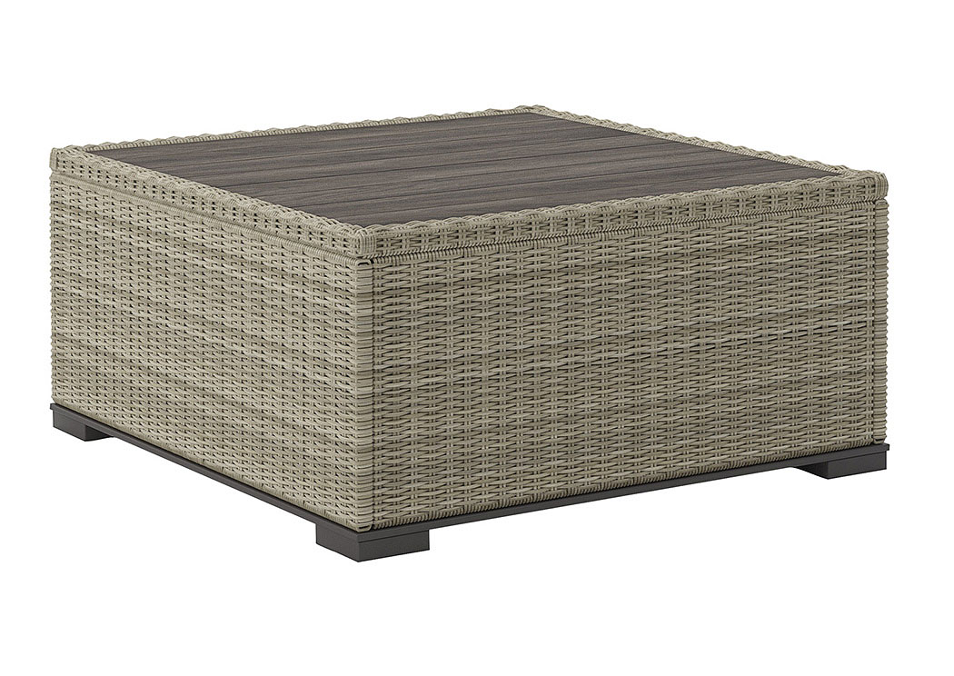 Silent Brook Beige Square Cocktail Table,Outdoor By Ashley
