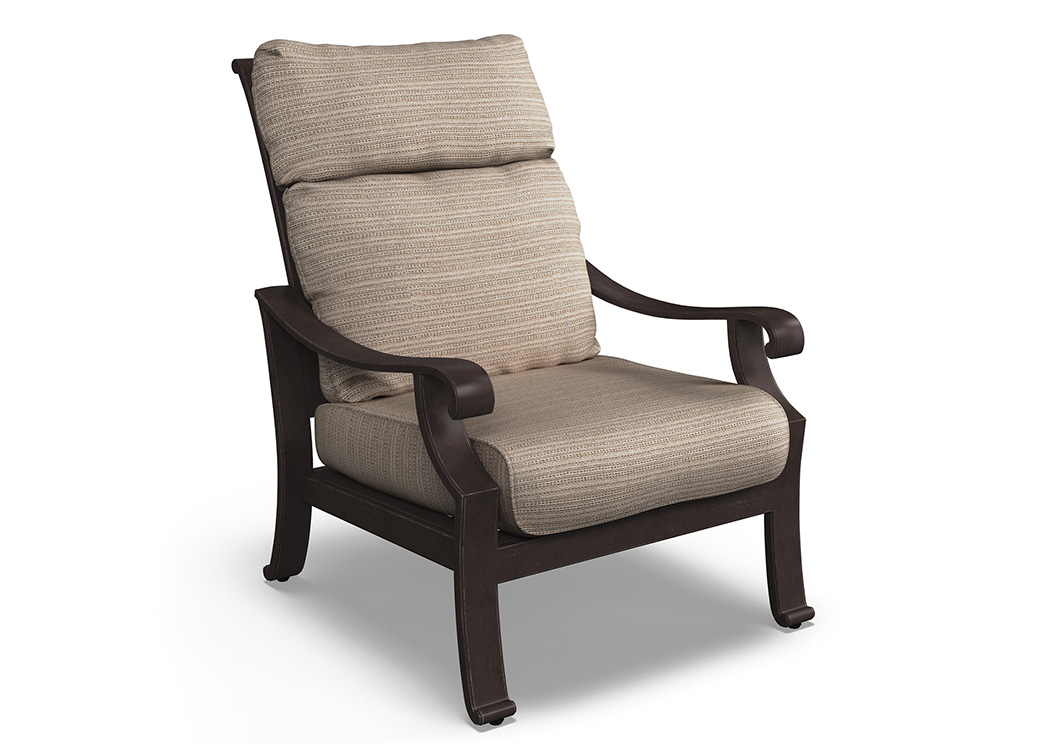 Chestnut Ridge Brown Lounge Chair w/Cushion,Outdoor By Ashley