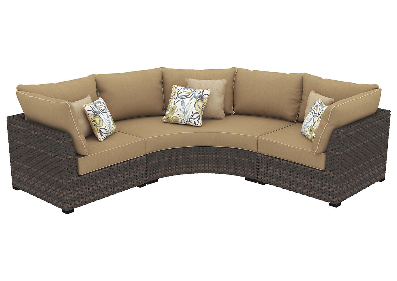 Oak Furniture Liquidators Spring Ridge Beige Brown Sectional