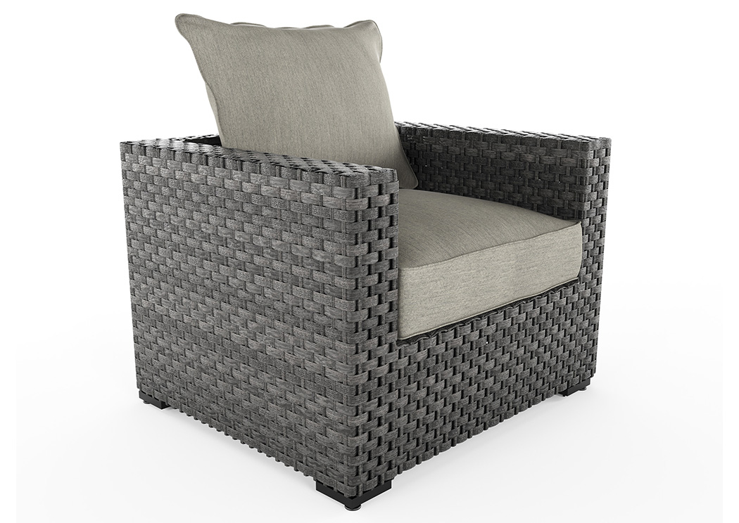 Spring Dew Gray Lounge Chair W/Cushion,Outdoor By Ashley