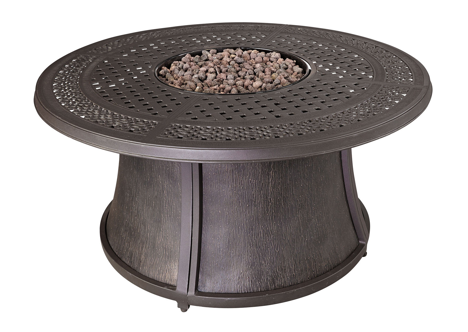 Burnella Round Fire Pit Table,Outdoor By Ashley