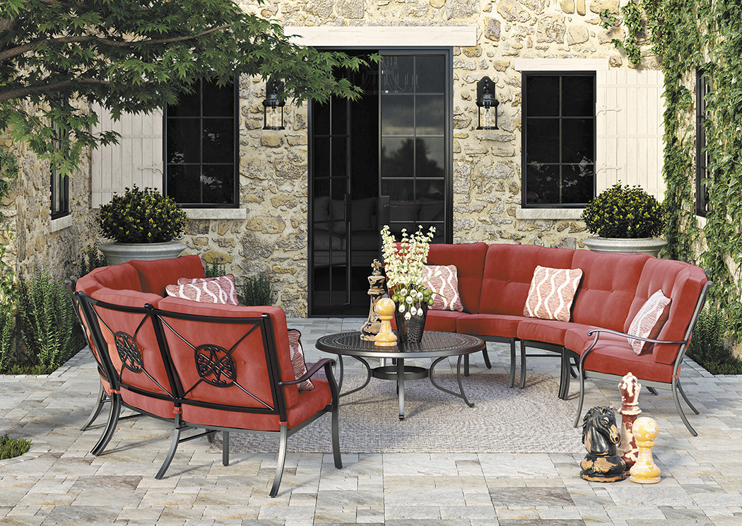 Burnella Brown Sectional,Outdoor By Ashley