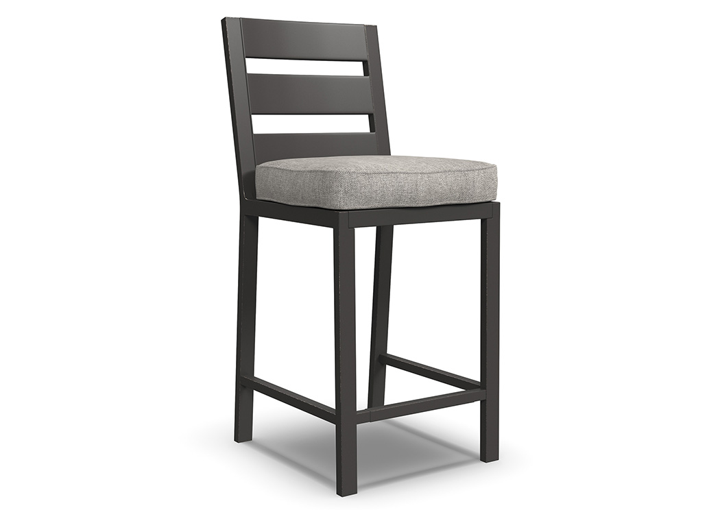 Perrymount Brown Barstool with Cushion (2/CN),Outdoor By Ashley