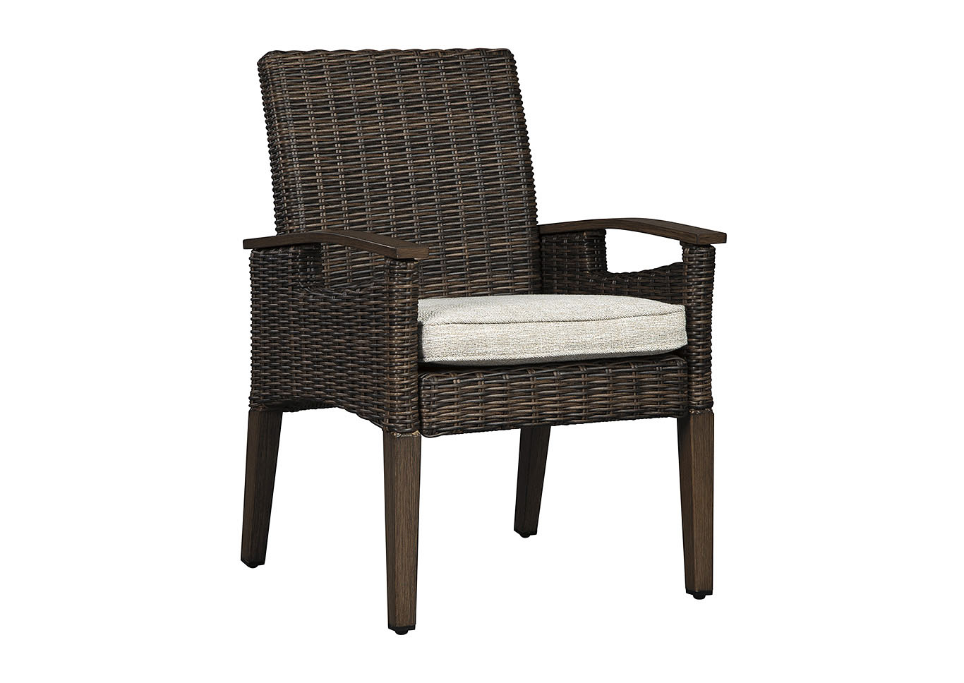 Paradise Trail Medium Brown Arm Chair w/Cushion (Set of 2),Outdoor By Ashley