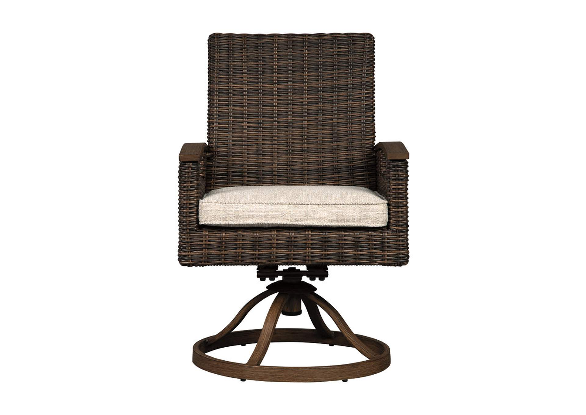Paradise Trail Brown Swivel Chair w/Cushion (Set of 2),Outdoor By Ashley