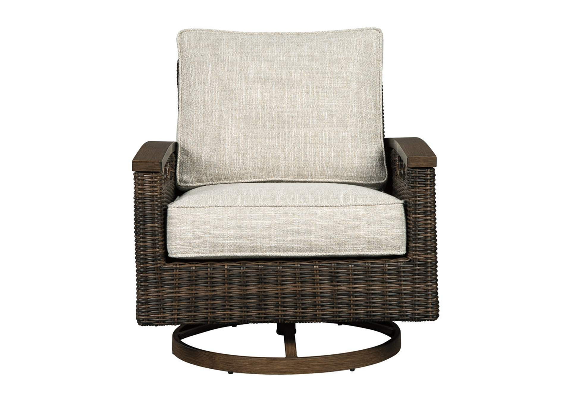 Stupendous Curlys Furniture Paradise Trail Medium Brown Swivel Lounge Caraccident5 Cool Chair Designs And Ideas Caraccident5Info