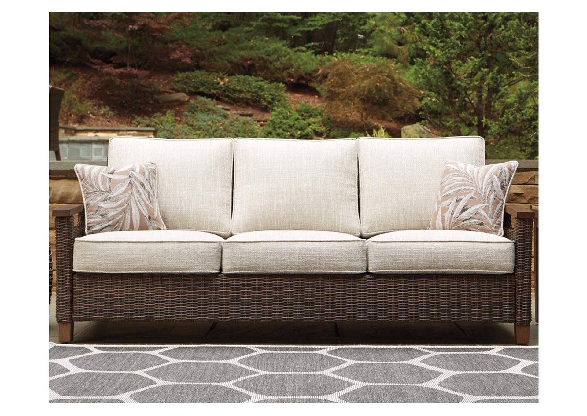 Paradise Trail Brown Sofa w/Cushion,Outdoor By Ashley