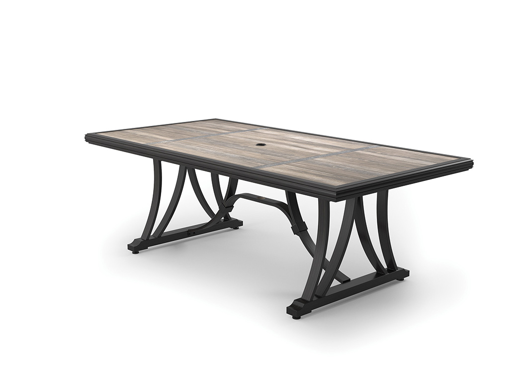 Marsh Creek Brown Rectangular Dining Table,Outdoor By Ashley