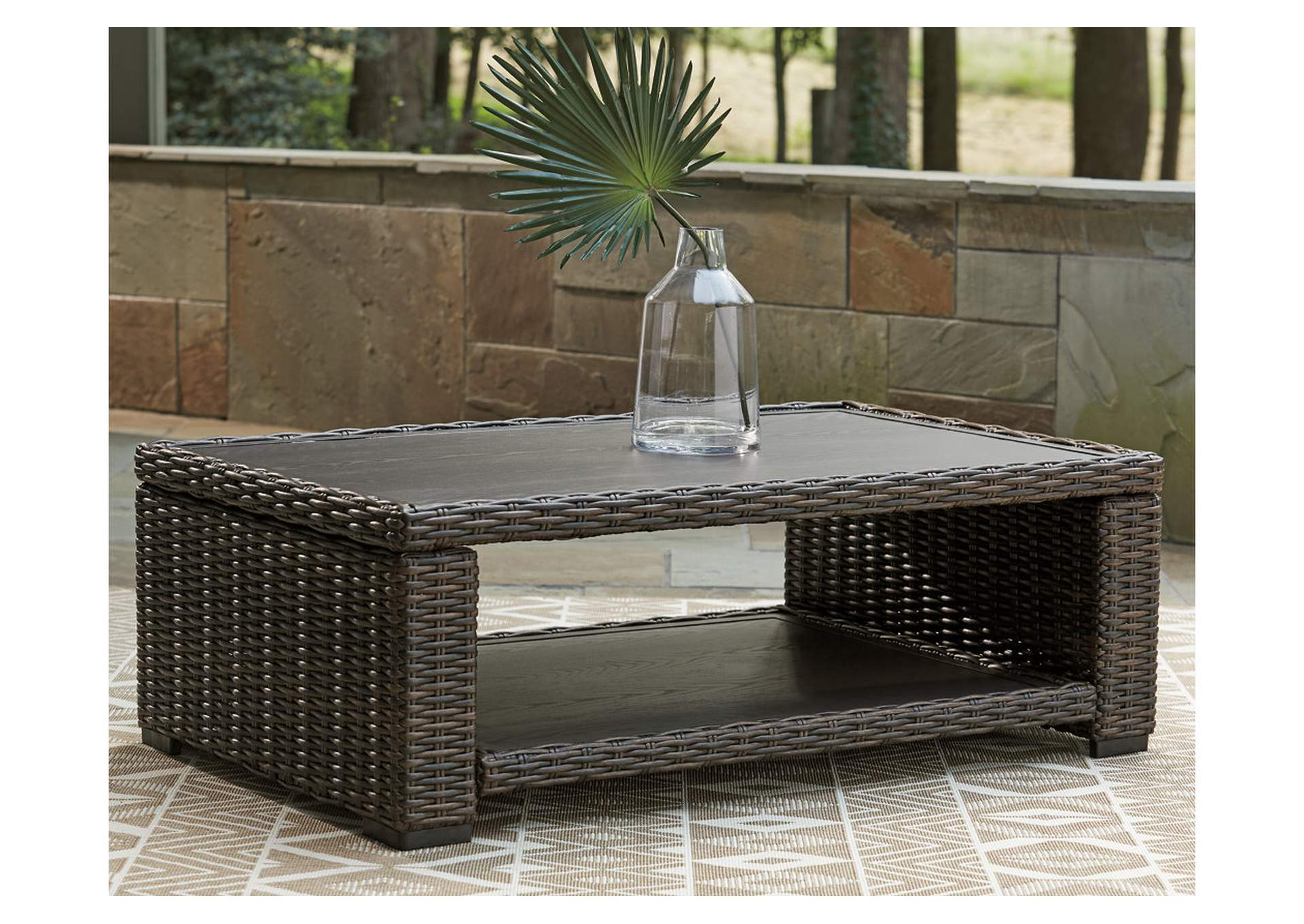 Grasson Lane Brown Coffee Table,Outdoor By Ashley