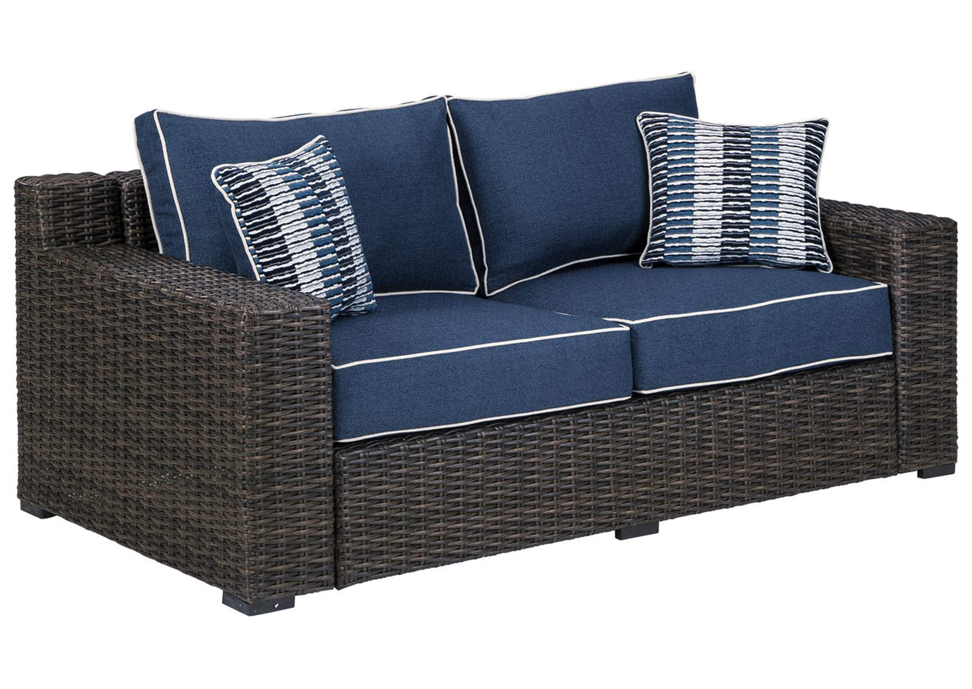 Grasson Lane Loveseat with Cushion,Outdoor By Ashley
