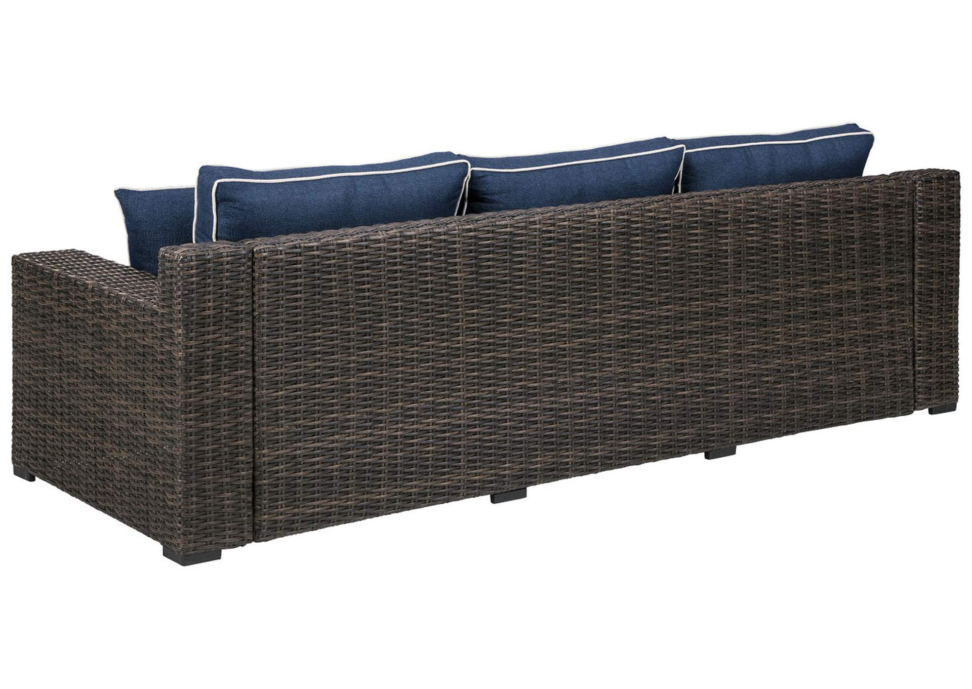 Grasson Lane Brown/Blue Sofa with Cushion,Outdoor By Ashley