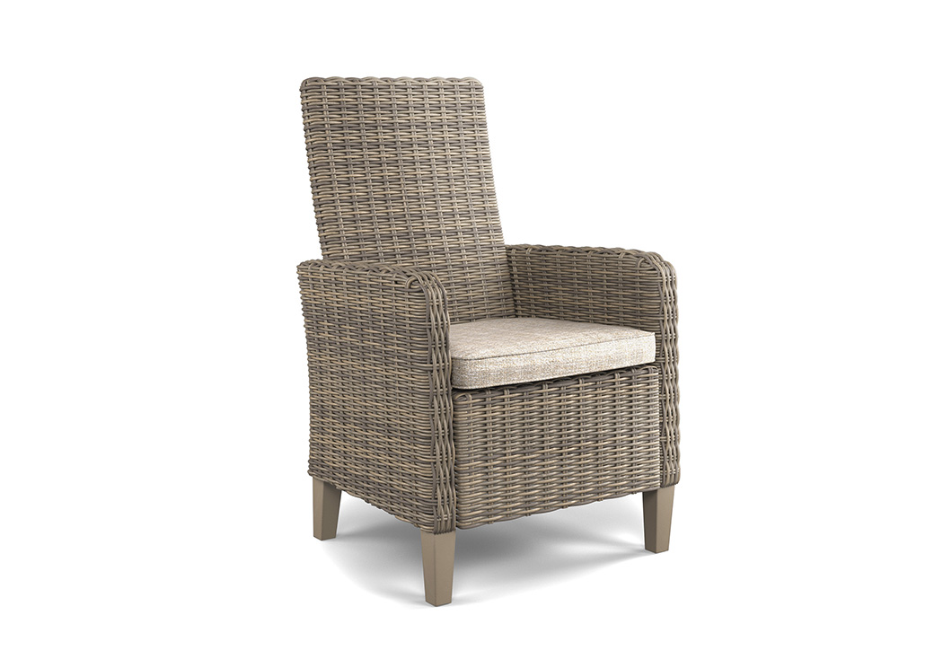 Beachcroft Beige Arm Chair With Cushion (2/CN),Outdoor By Ashley