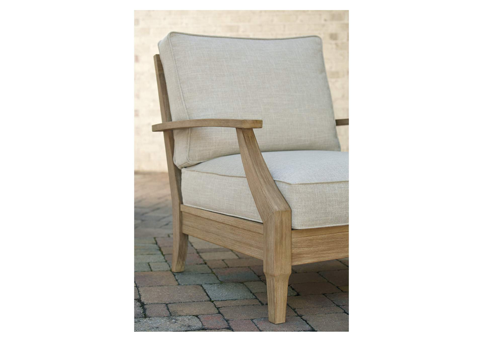 Clare View Beige Lounge Chair w/Cushion,Outdoor By Ashley