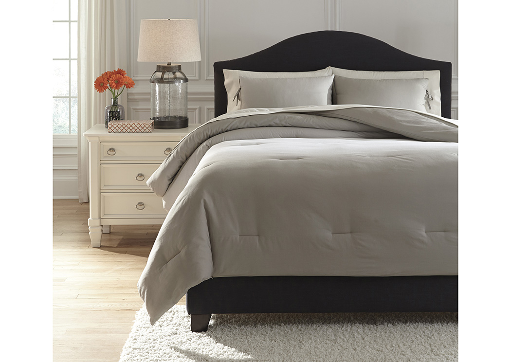 Utah Furniture Direct Aracely Taupe Queen Comforter Set