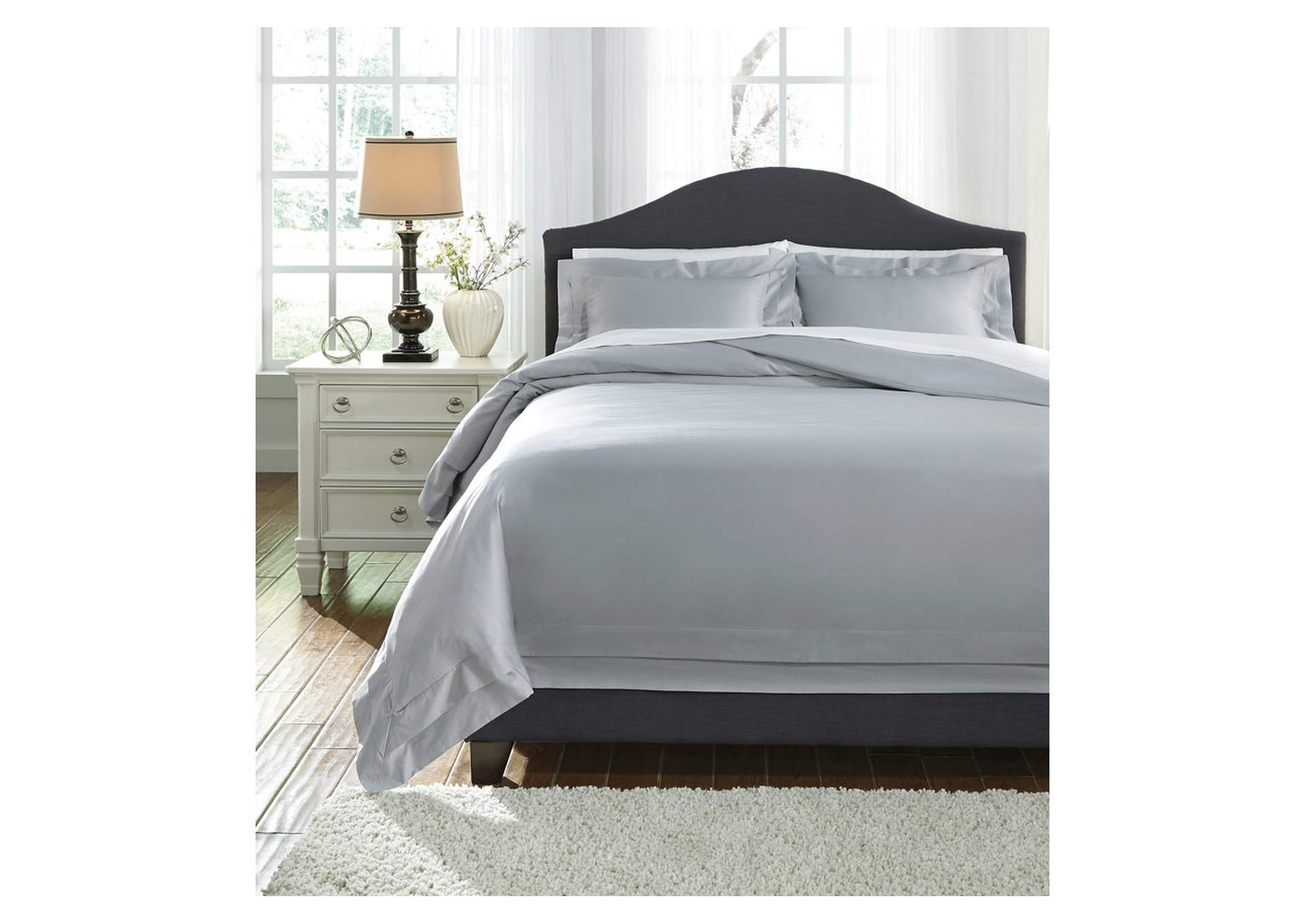 Chamness Gray Queen Duvet Cover Set,Signature Design By Ashley