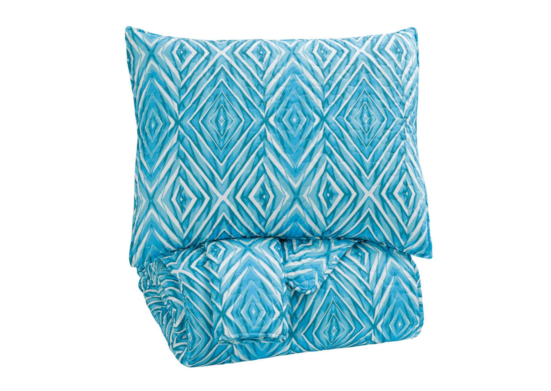 Jolana Turquoise Full Quilt Set,Signature Design By Ashley