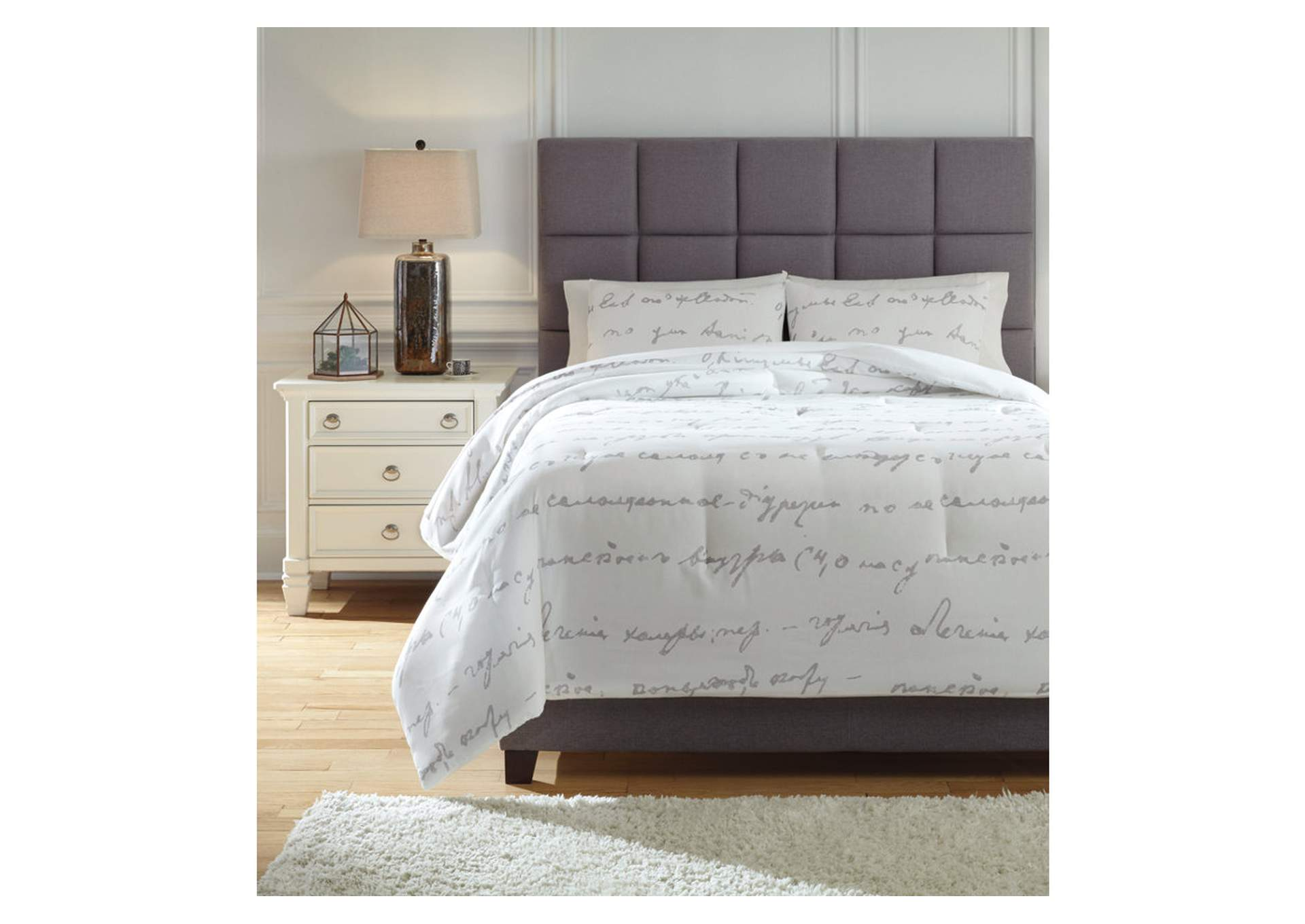 Adrianna White/Gray Queen Comforter Set,Signature Design By Ashley