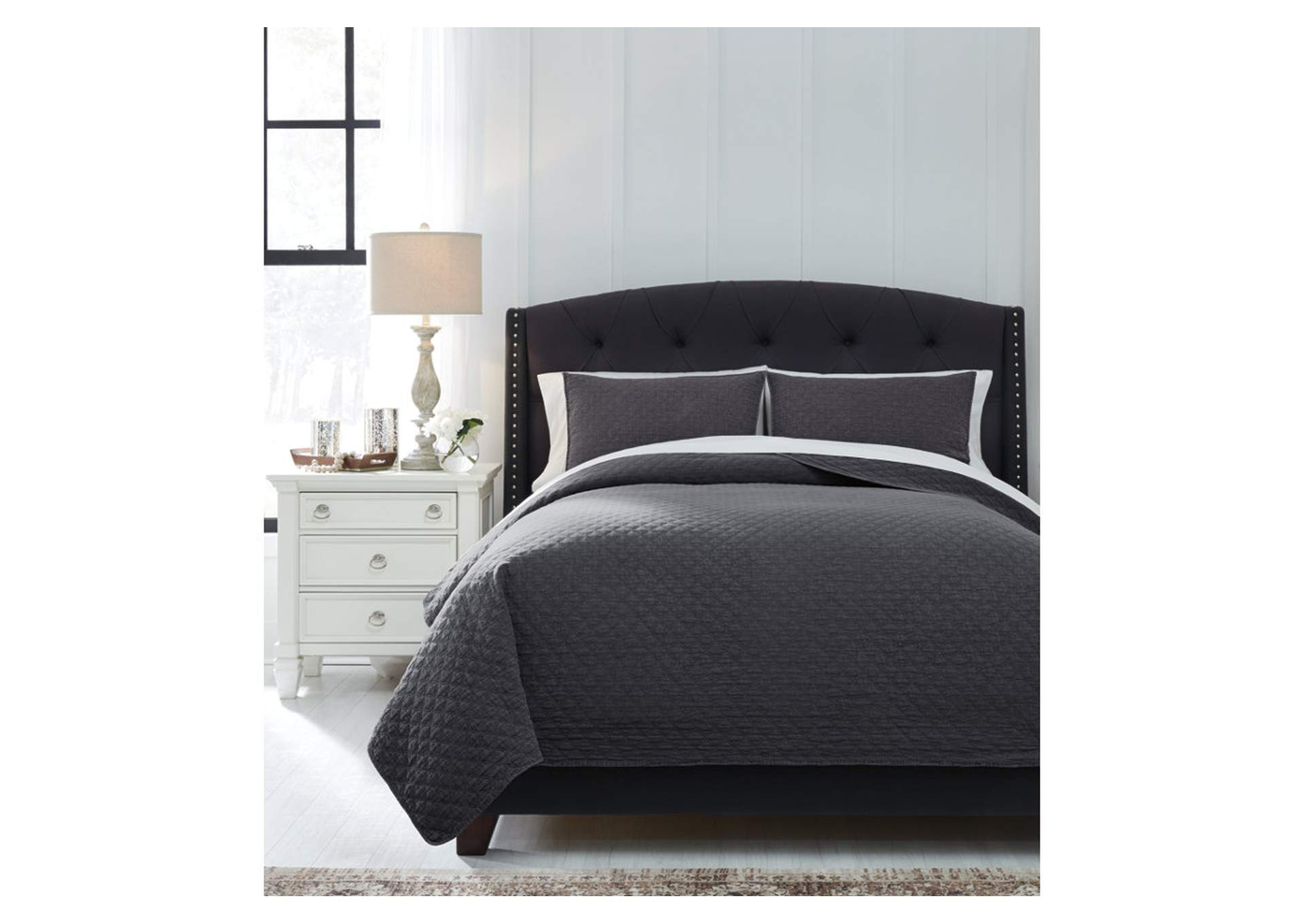 Ryter Charcoal King Coverlet Set,Signature Design By Ashley