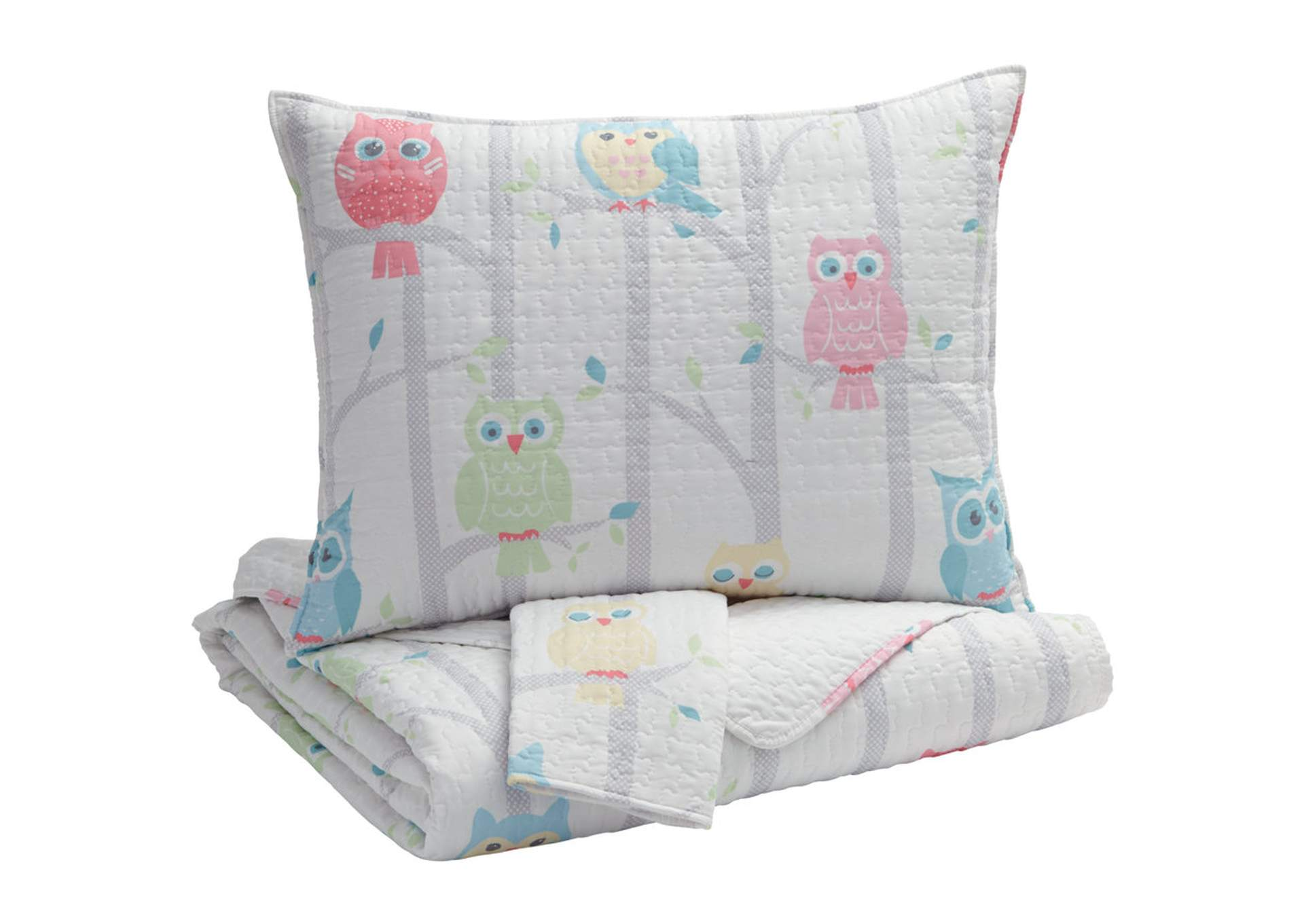 Oxford home furnishings lucille multi full coverlet set